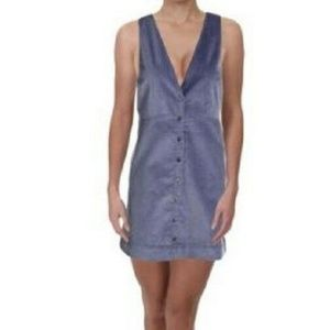 Free People  S Blue Mini Dress 7AX55